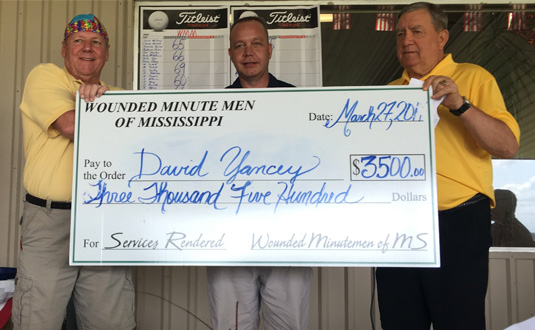 $3500 Donation from Wounded Minute Men of Mississippi March 27 2017