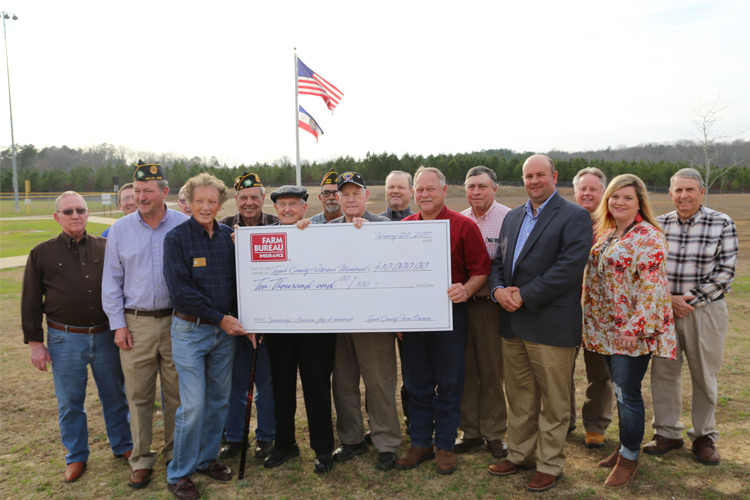 Farm Bureau Insurance Donation - February, 2017